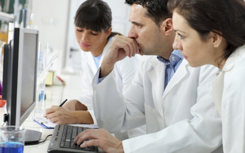 Scientists in Laboratory Stock Photo