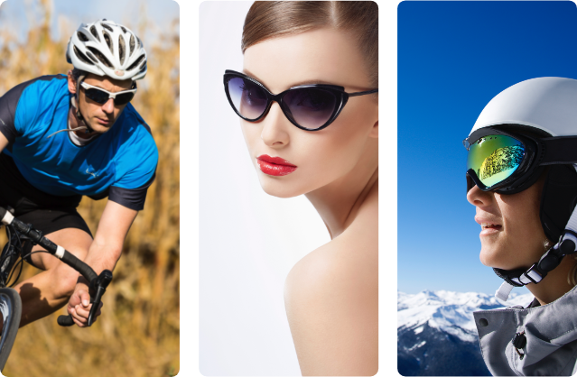 Sunglass and Sports Eyewear Applications